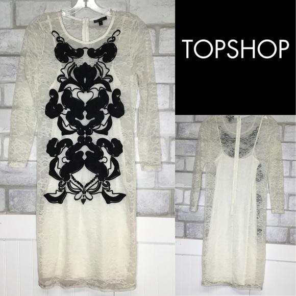 Topshop lace party dress